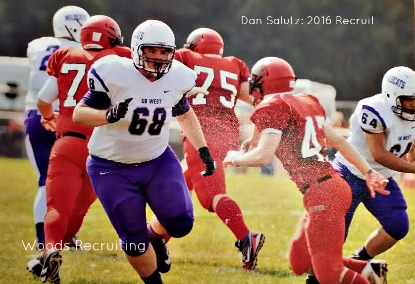 Dan Salutz, High School Football Recruit 2016