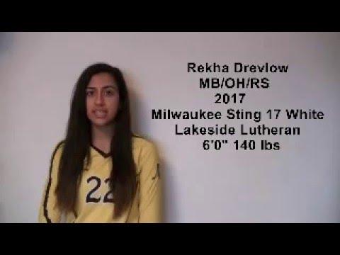 Rekha Drevlow High School Volleyball Recruit