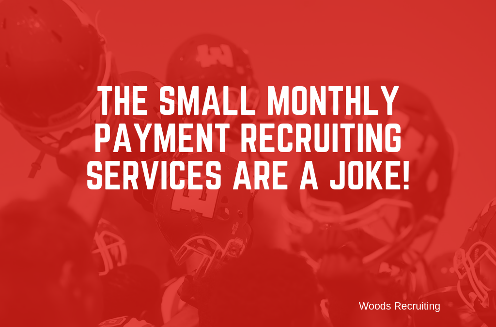 The Small Monthly Payment Recruiting Services Are A Joke!