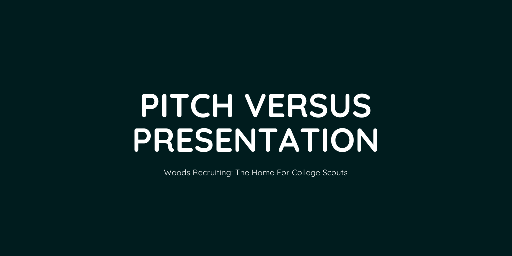Pitch Versus Presentation